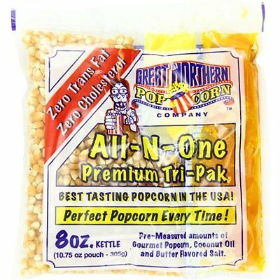 Great Unpopped Northern Popcorn Premium 8 Ounce Popcorn Portion Pack of 24
