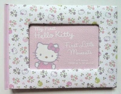 Baby Record Book & Moment Photo Album Pink HELLO KITTY Christening Gift New