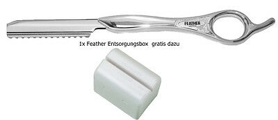 Feather Styling Messer Razor Silber & Feather Entsorgungsbox