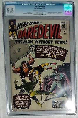 MARVEL Comics DAREDEVIL  #6  CGC   5.5 fine + 1965