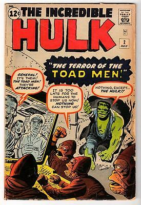 Marvel Comics VG  HULK 2 1st Green TOAD MEN AVENGERS  hulk 4.0