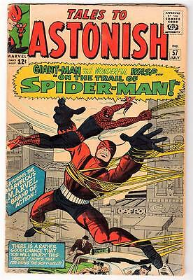 Marvel TALES TO ASTONISH 57 Spiderman v giant man  VGF  1966 5.0