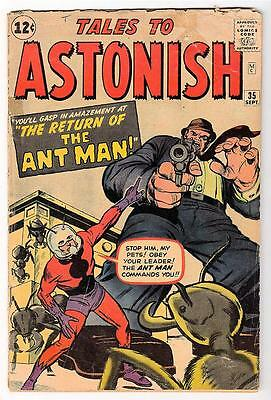 Marvel TALES TO ASTONISH 35 VG- 3.0 1st ANT-MAN Costume GIANT MAN AVENGERS
