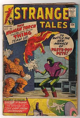 MARVEL STRANGE TALES 124  KIRBY DITKO  VG-  Human torch FF4 1964