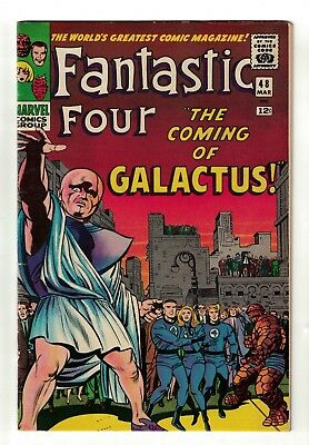 Marvel Comics VFN 8.0  FANTASTIC FOUR #48 Galactus Silver surfer cent High grade