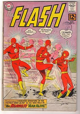 DC Comics VG 4.0  FLASH  #132 JLA  batman 1963 HEAVY flash