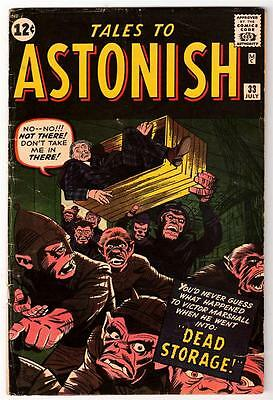 Marvel TALES TO ASTONISH 33 5.5 fine - HORROR DEAD STORAGE