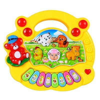 Baby Kids Musical Educational Animal Farm Piano Developmental Music Gift Toy VY