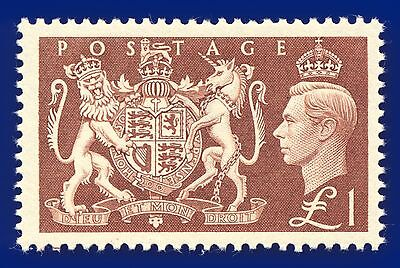 1951 SG512 £1 Brown Unmounted Mint MNH Cat £45 ACWT