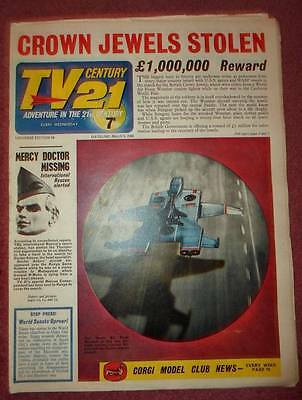 Tv 21  #59  Century Fireball Xl5 Stingray Thunderbirds Daleks Colour Dr Who