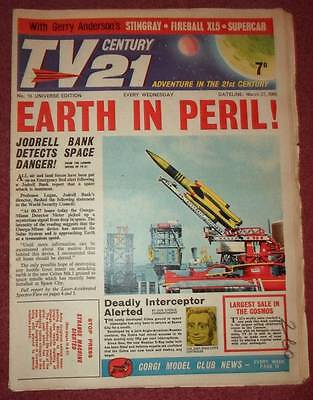 Tv 21 #10 Century Fireball Xl5 Stingray Thunderbirds Daleks Colour Dr Who