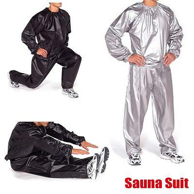 Heavy Duty Sweat Sauna Suit Exercise Gym Fitness Weight Loss Training Suit New