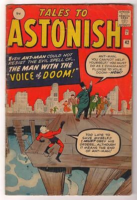 Marvel TALES TO ASTONISH 42 Pym GIANT MAN AVENGERS Mid GRADE 5.0 FN-
