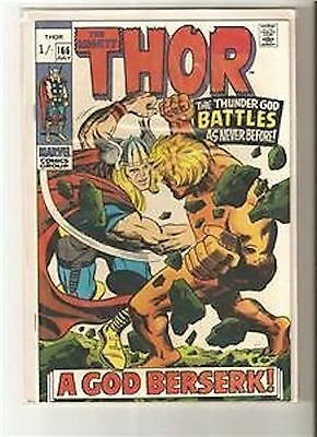 MARVEL comic THOR ISSUE #166 F- Vol 1