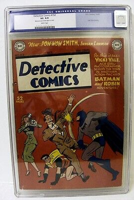DC Comic DETECTIVE BATMAN Golden age #152 Classic cover Vail appearance Story