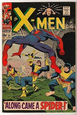 MARVEL Comics X MEN uncanny Silver age #35 1967 FN Spiderman