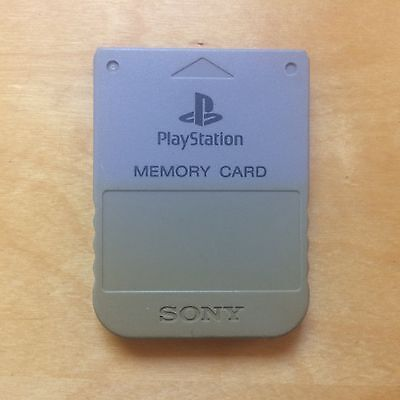Sony Playstation 1MB Memory Card PS1 Genuine Grey - 30 Day Warranty!