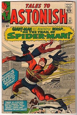 MARVEL Comics TALES TO ASTONISH #57  spiderman 1964 VG/FN+ ANT MAN GIANT