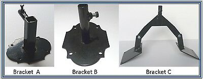 Weathervane Fixing Brackets- 3 Styles(U)
