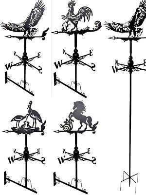 Metal Weather Vane / Wind Wheel Garden Stake Dog, Duck, Owl Rooster Ornament