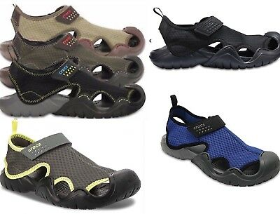 Men's CROCS SWIFTWATER  Sport Sandals  BLACK,  ESPRESSO BROWN,  KHAKI, REALTREE