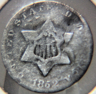 1852 3CS Three Cent Silver - Lot # TCP 34