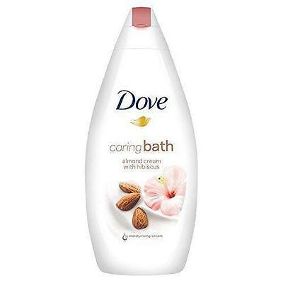 ** Dove Caring Bath Almond Cream With Hibiscus 500Ml New ** Wash