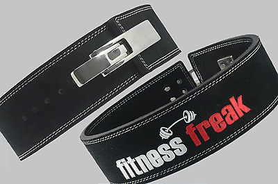 SameXtyle Fitness Freak 10mm Weightlifting Bodybuilding Lever Leather Belt 4""