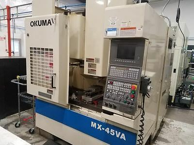 Okuma Mx45A Cnc Vertical Machining Center Very Low Hours