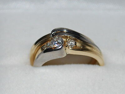 14K Gold Diamond ring with band