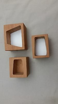 River Road Creations  3 wood boxes for holding cutters