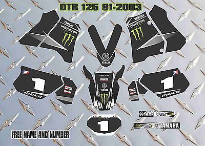 YAMAHA DTR125 decals graphics DTR DT  personal laminated stickers 1991-2003