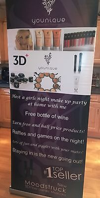 Younique Presenter Roller Banner Stand With Carry Case/bag