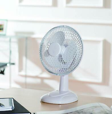 Fine Element Electric Portable Air Cooling White Small 6'' inch Desktop Desk Fan