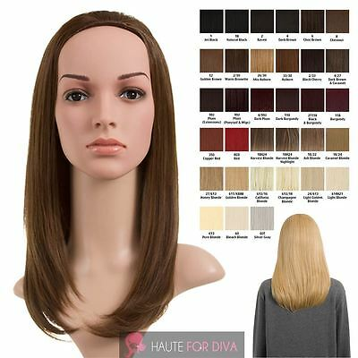 Women'S New 9 Colours Synthetic High Quality Straight Hair Medium Half Head Wig