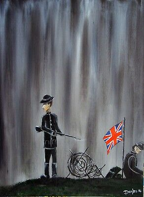 Original Painting Modern ABSTRACT contemporary WWI ART by Deakes