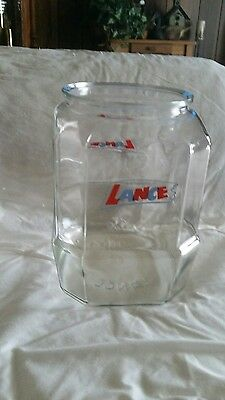 Rare Vintage Large Lance Glass Cracker Cookie Jar Store Counter Display 10 1/2""