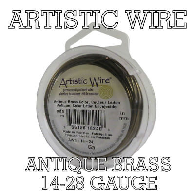 Artistic Wire Craft Wire ANTIQUE BRASS from 14 to 28 ga