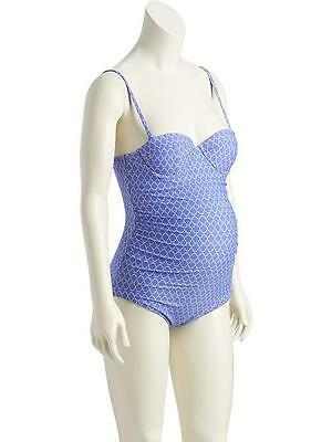 NWT Old Navy Maternity Size L Periwinkle   One Piece Bathing Suit NEW