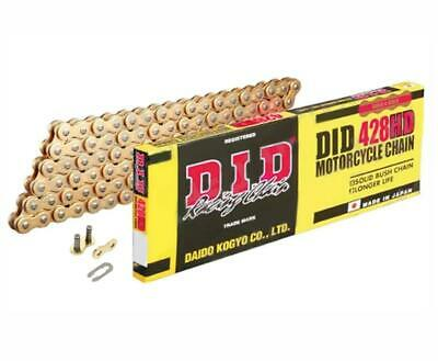 DID Gold Heavy Duty Roller Motorcycle Chain 428HDGG Pitch 118 Split Link