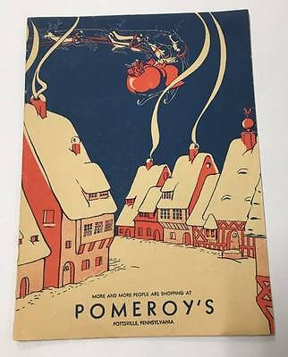 1934 Pomeroy's Department Store Pottsville Pennsylvania Christmas Coloring Book