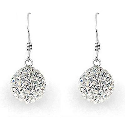 Europe and America New popular 925 Silver Crystal Ball Fine Earrings Girls gift