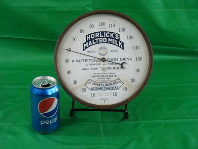 Antique Advertising Thermometer Malted Milk Rare Original Soda Country Store