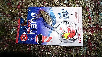 Hex Bug Holiday Nano, Pull Santa's Sleigh Special Edition Christmas Ornament NEW