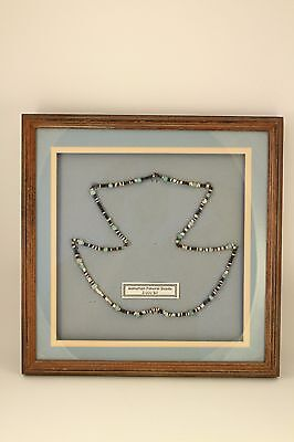 Sadigh Gallery Sumerian Necklace Ancient Beads Mesopotamia 3000 B.C. Framed +COA