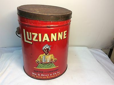 1952 Luzianne Mamie Coffee Can W/ Original Cup And Saucer