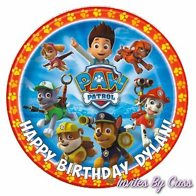 Paw Patrol Round 7 Inch Edible Image Cake Topper Birthday Party Kids