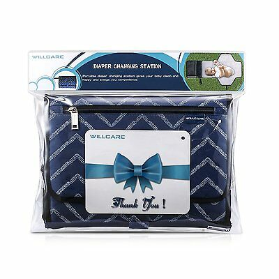 Portable Changing Station with Cushioned Changing Pad Baby Diaper Nursery