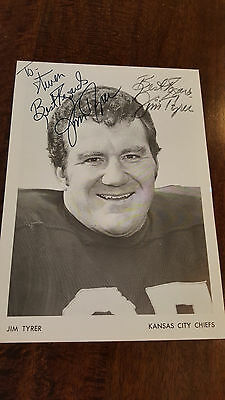 1972 Jim Tyrer Signed Team Issue Photo Kansas City Chiefs Redskins Ohio State