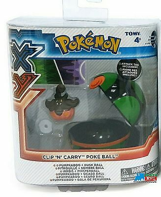 """Pokemon 2"""" Plastic Toy Action Figure Clip n Carry - Pumpkaboo and Duskball"""